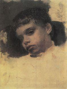 Valentin Serov (1865 –  1911) - Portrait of Kolya (Nikolay) Simonovich, 1880