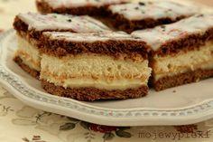 Ciasto przekładane z miodem i kremem