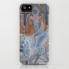 stained glass pegasus iPhone & iPod Case by Magdalena Almero - $35.00