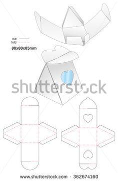 Die Heart Bonbon Box Stamp Stock Vector Illustration 362674160 : Shutterstock