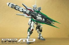 "MG 1/100 Unicorn Gundam ""00 Uniqx"" Custom Build - Gundam Kits Collection News and Reviews"