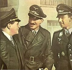 Ernst Udet, Adolf Galland a Werner Mölders, smetánka mezi stíhači.