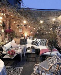 Outdoor Rooms, Outdoor Living, Outdoor Furniture Sets, Outdoor Decor, Ideas Terraza, Cozy Patio, Backyard Patio Designs, Patio Ideas, Backyard Ideas