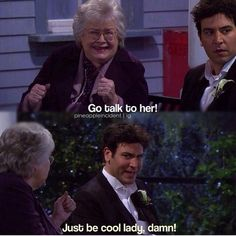Just be cool lady damn!