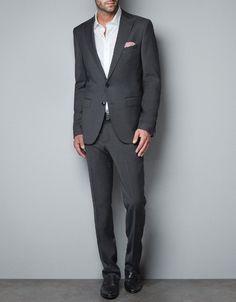 MICROSTRUCTURE BLAZER - Suits - Man - ZARA Canada