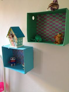 Recycled boxes decoration idea