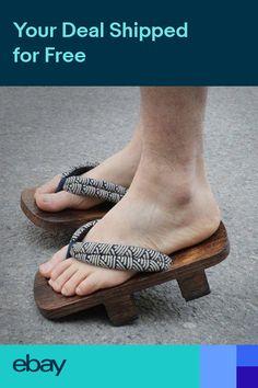 676e65130ef Hot Sale Men Wooden Japanese GETA Clog Bidentate Flops Flip Wood Sandal  Shoes Sz