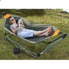 Portable Folding Hammock, (portable hammock, hammock, hammocks, camping equipment, hiking, durable, camping hammock, hammock stands, patio furniture, backpacking hammock)