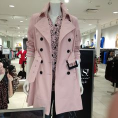 Pink trench coat...been eyeing this for weeks! I WANT IT!