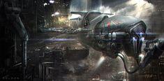 concept ships: Concept spaceship art by Juan Pablo Roldan