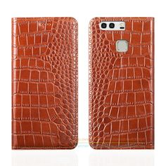 "Crocodile Grain Genuine Leather Case For Huawei P9 5.2"" Luxury Mobile Phone Cover & Invisible Magnet 1 Card Slot #Affiliate"