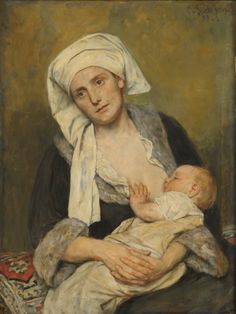 Mother and Child (also Madonna), 1922 by Eduard von Gebhardt (German/Estonian 1838–1925)