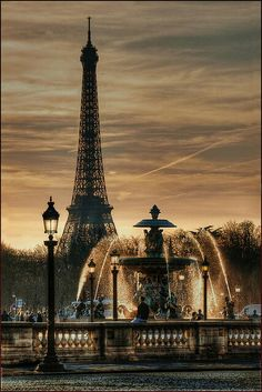 Paris! One of the places that most people love to go.  the Eiffel tower as a symbol of industrial and modern era. new phase of life.