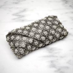 Gunmetal filigree purse, it's so pretty! $250.00