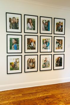Family gallery wall on display! #family #gallerywall #customframing
