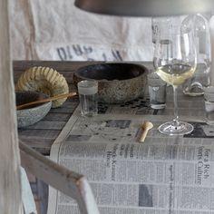 table newspaper