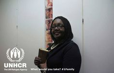 Elizabeth decided to take her copy of The Bible.Elizabeth from the UK- Visit 1family - http://unhcr.org/1family/