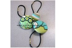 How to create hair accessories out of cover button kits.  Easy and inexpensive.