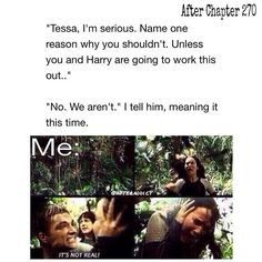 """I seriously gave up a few times reading After, every time Hessa broke up I cried and say """"fuck that"""" and stopped reading but each time I found myself reading it"""