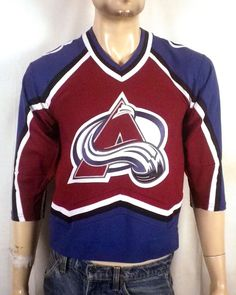 vtg euc Koho sewn logo Colorado Avalanche NHL Hockey Jersey sz Youth S M.  Stl Vintage 3c51b01dd