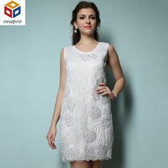 ONE SIZE SM MED Vintage LOOK Embroidery Sequin Beading Sleeveless O-Neck  Mini Tank Dress HOLIDAY 6263f7aa674b