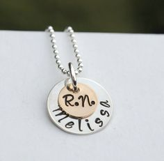 nursing graduation | Nurse Jewelry RN Necklace Graduation Gift Custom Name Hand Stamped ...