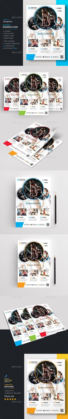 Gym Flyer Template PSD. Download here…