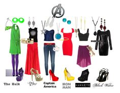 """""""Avengers Inspired"""" by jolie-eastman ❤ liked on Polyvore featuring Vanessa Bruno, Giuseppe Zanotti, Dolce&Gabbana, Antik Batik, Chinese Laundry, Warehouse, Femme Metale, 7 For All Mankind, Casadei and Marc by Marc Jacobs"""