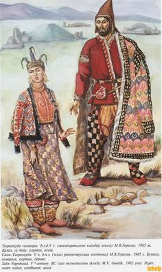 Saka man and woman by M. V. Gorelik