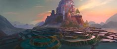 Utopia - Oasis, Felix Pelletier-Marion on ArtStation at https://www.artstation.com/artwork/3P0GA