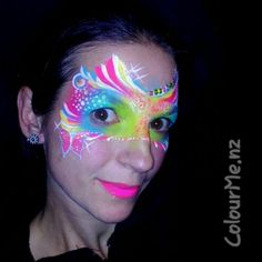 """""""founders day"""" Inspired by Abby A. Facepainting by www.colourme.nz #InspirationToPaint #AugustChallenge #colourmeNZ"""