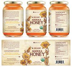Honey Jar Labels Template Best Of Honey Nutrition Label Template Honey Label, Honey Jar Labels, Food Packaging Design, Packaging Design Inspiration, Branding, Organic Manuka Honey, Honey Brand, Moslem, Honey Packaging