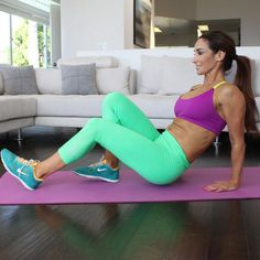Trainer Natalie Jill crafted a HIIT routine right in front of her couch—soyou have no excuses not to work out at home.