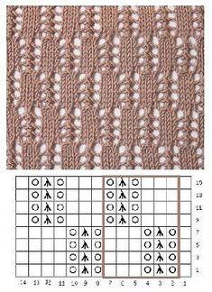 Lace Knitting Stitches, Lace Knitting Patterns, Knitting Charts, Lace Patterns, Easy Knitting, Loom Knitting, Knitting Designs, Stitch Patterns, Crochet Yarn