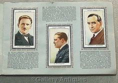Vintage - Radio Celebrities (A Series) Full Set of 50 Cigarette Cards in Original Album by W. D. & H. O. Wills Issued in 1934 (ref: 3190)