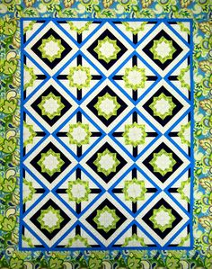 """Crossroads"" from C&T Publishing's book ""Flip & Fuse Quilts"" by Marcia Harmening of Happy Stash Quilts"