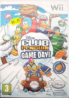 CLUB PENGUIN: GAME DAY! Nintendo Wii Game 2010 -PAL-