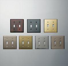 Restoration Hardware Metal Switchplates