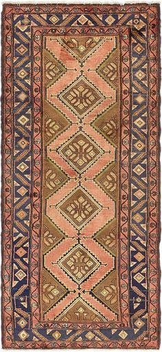 Beige 3' 5 x 7' 6 Chenar Persian Runner Rug | Persian Rugs | eSaleRugs