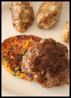 Steaks de pot au feu & palets aux carottes