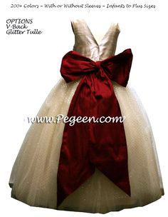 Claret Red and Gold and ivory ballerina style Flower Girl Dresses with layers of tulle Gold Flower Girl Dresses, Tulle Flower Girl, Tulle Flowers, Girls Dresses, Flower Girls, Bridesmaid Flowers, Bridesmaids, Victoria Wedding, Custom Dresses