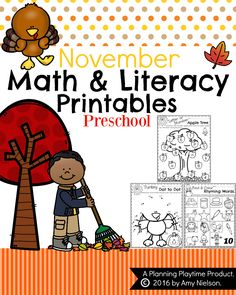 November Preschool Worksheets with a FREE Printable.