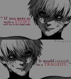 Anime/Manga : tokyo ghoul hell quotes, well said quotes, sad anime quotes Hell Quotes, Psycho Quotes, Anime Guys, Manga Anime, Lone Wolf Quotes, Tokyo Ghoul Quotes, Sad Anime Quotes, Anime Friendship, Dark Quotes