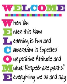 Welcome Back To School Bulletin Boards Ideas Classroom Welcome, Classroom Rules Poster, Classroom Signs, Classroom Quotes, Classroom Bulletin Boards, Classroom Displays, Future Classroom, Classroom Organization, Classroom Management