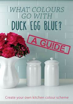 What colours go with duck egg blue? A kitchen colour scheme guide to using duck egg blue #MyKitchenAccessories #DuckEggBlueKitchen #PastelKitchen