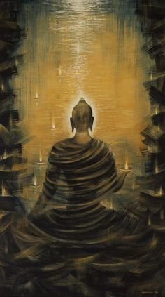 Buddha. Nirvana ocean Fine Art Print - Vrindavan Das