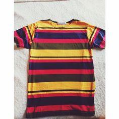 90s vintage colorful striped t Great condition! Super cool vintage find 💖 Vintage Tops