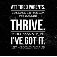 Being tired completely sucks when you're a parent, but just know you don't need to feel like that. My favorite thing about sharing Thrive is the results people have and how much better they feel and how it changes their lives for the better! I love making people feel their absolute best  GetNutrition.Le-Vel.com