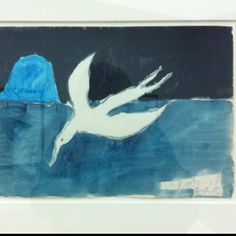 Peter Doig, I think it maybe called Seagull. Photographed by me at an exhibition in Paris last autumn http://lynne-glazzard.com