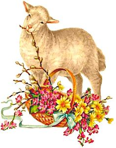 Mail - oblaten@outlook.com Easter Lamb, Easter Bunny, Happy Easter Pictures Inspiration, Sheep Crafts, Easter Party, Vintage Easter, Illustrations, Vintage Images, Holiday Crafts
